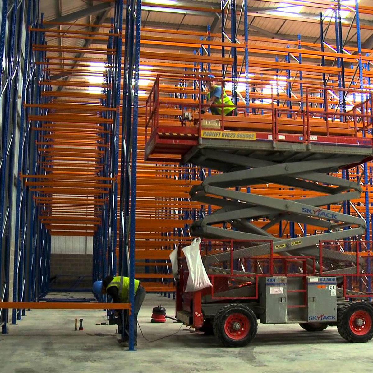racking-removal shelving installation